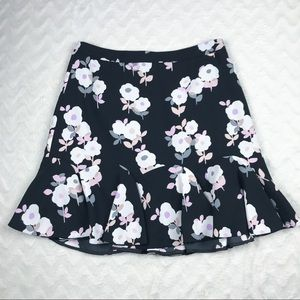 Kate Spade Flared Hem Floral Skirt 14 Girls